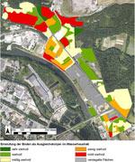 Abbildung 1: Einstufung der Böden als Ausgleichskörper im Wasserhaushalt (Copyright: Höke et al. & Stadt Osnabrück)