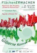 """Plakat """"FlächenERWACHEN 2009"""" zum Abschluss des Projekts"""
