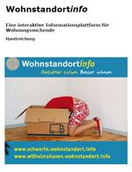 """Titelseite der Broschüre """"Wohnstandort<em>info</em> - Eine interaktive Informationsplattform für Wohnungssuchende. Handreichung."""