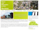 Screenshot des WoMo-Rechners - Startseite (Copyright: HCU-Hamburg)