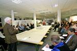 Abschlussveranstaltung der Charrette zur Nachnutzung des Bergwerkstandorts Westerholt, Oktober 2007 (Copyright: Hertener Allgemeine Zeitung)
