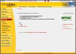 "Screenshot der Webseite ""Gewerbeimmobilienbörse der Stadt Gera"""