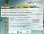 Homepage des Leitfadens www.leitfaden-lena.de